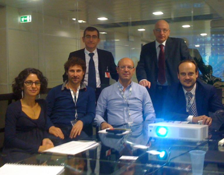 Paula Castelluccio (CNPADC), Alberto Piemontese (CNPADC), Marco Colli (STRHOLD), Corrado Ciotti (CNPADC), Enrico Schenone (DATAMAR) and Gaetano Mungari (CNPADC).