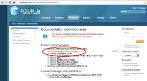 Screenshot showing where supported systems document is located